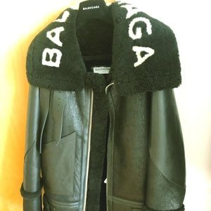Brand new with tag balenciaga shearling